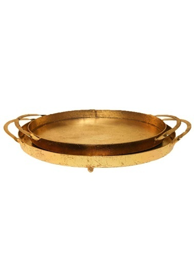 Vitale Vitale Varak 2Li Oval Tepsi Altın